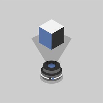 Illustration of holographic technology
