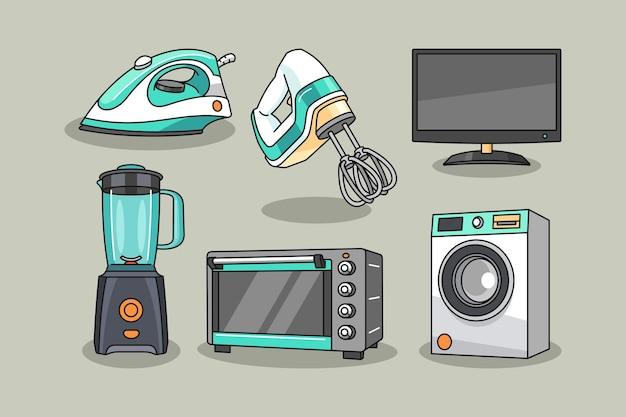 Иллюстрация дизайна инструментов домашней электроники