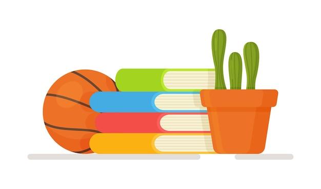 ホームスクーリングのイラスト。フリーランスのオンライン教育の概念