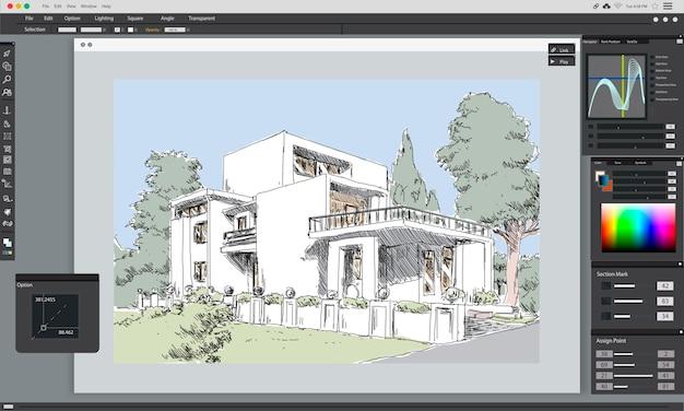 집 계획의 그림