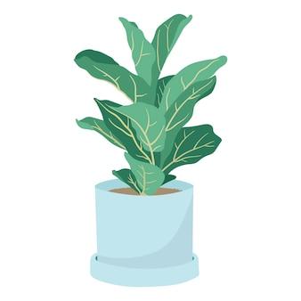 ポットデザイン要素の観葉植物のイラスト