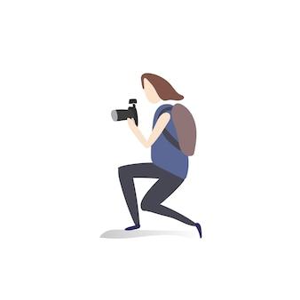 人間の趣味や活動のイラストレーション