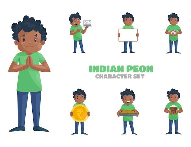인도 peon 문자 집합의 그림