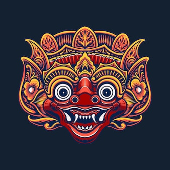 인도네시아 마스크 문화 디자인의 그림
