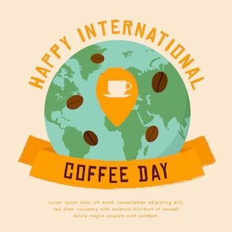 コーヒーイベントの国際デーのイラスト
