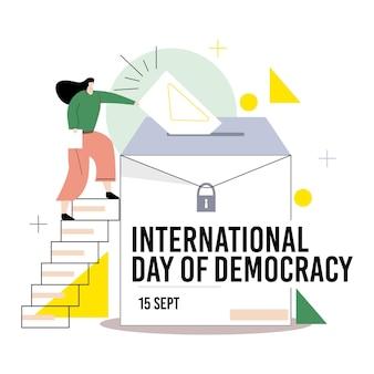 Иллюстрация международного дня демократии