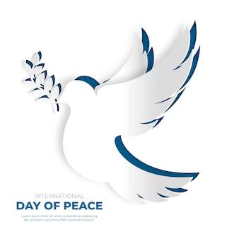 Иллюстрация международного дня мира в бумажном стиле Бесплатные векторы