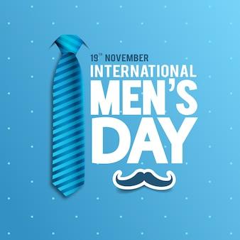 Иллюстрация международного мужского дня.
