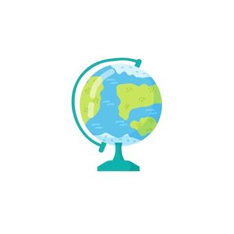 Иллюстрация изолированного на белом фоне шаржа земного шара. вектор