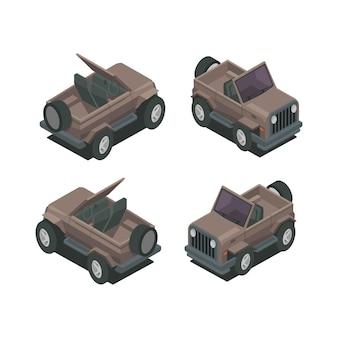 Иллюстрация изометрического внедорожного векторного дизайна автомобиля