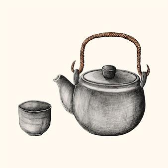 Иллюстрация японского напитка