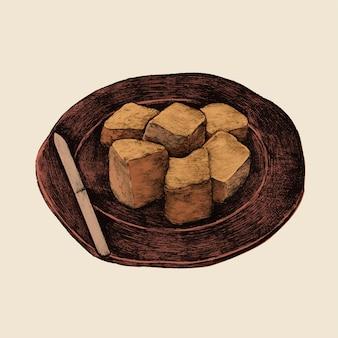 일본 음식의 일러스트