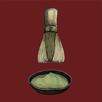 Иллюстрация японского травяного