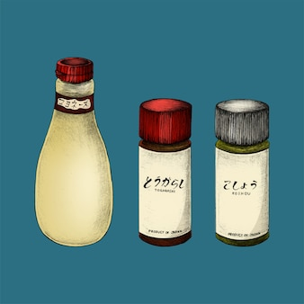 Иллюстрация японских ингредиентов