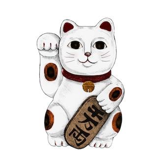 日本の幸運な猫のイラスト