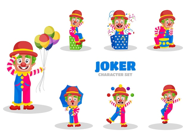 ジョーカーの文字セットのイラスト