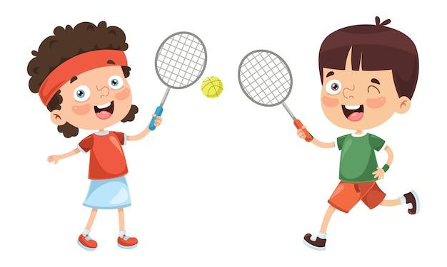 キッド・テニスのイラスト