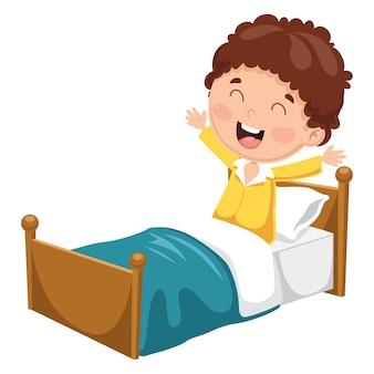 Illustration Of Kid Waking Up