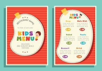 Illustration Of Kids Menu Template