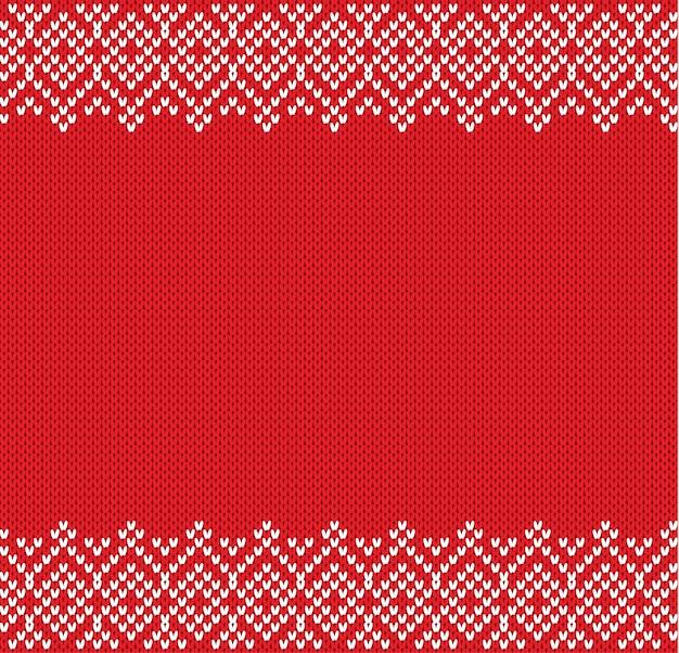 Иллюстрация вязаного геометрического орнамента фона с пустым местом для текста. вязаный рельефный узор