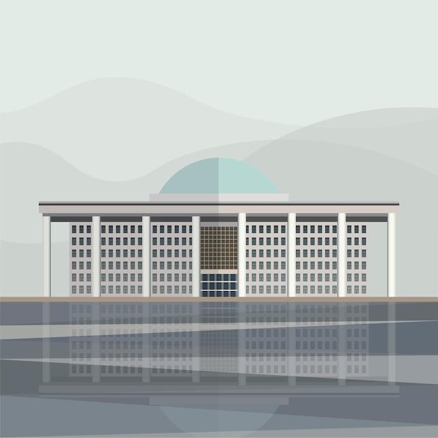 韓国議会議事堂のイラスト