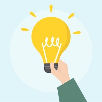 Illustration of light bulb icon