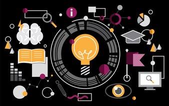 Illustration of light bulb ideas
