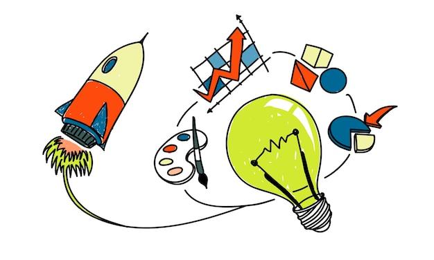 Иллюстрация идеи лампочек