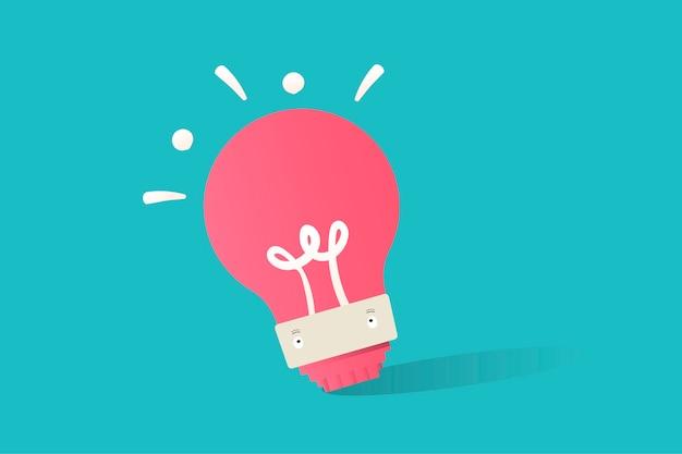 Иллюстрация лампочки на синем фоне