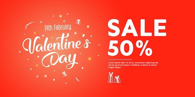Иллюстрация любви и день святого валентина. скидка 50%