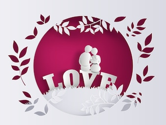 Illustration of love and valentine's Day
