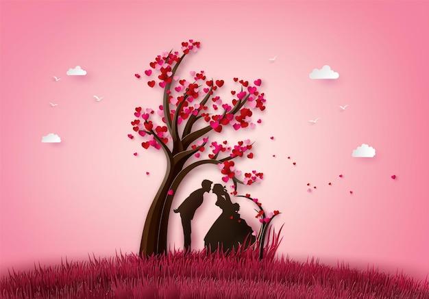 Иллюстрация любви и дня святого валентина.