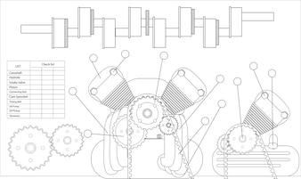 Illustration of machine checklist