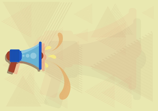 새로운 중요한 발표를 만드는 누수를 던지고 확성기의 그림. bullhorn은 빗방울을 뱉어내고 늦은 광고를 홍보합니다.