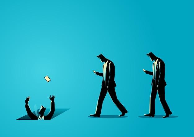 Иллюстрация мужчин с сотовыми телефонами