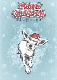 メリークリスマスと新年あけましておめでとうございますのイラスト