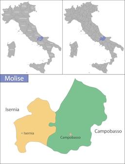 モリーゼのイラストは南イタリアの地域です
