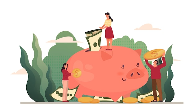 お金の保護のイラスト