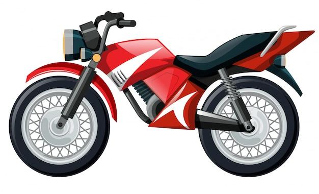 赤い色のオートバイのイラスト