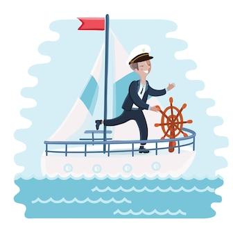 Иллюстрация из мультфильма капитана милый мальчик прялка
