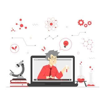 Иллюстрация онлайн-обучения