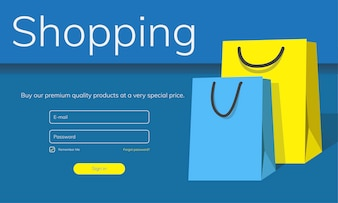 Illustration of online shopping concept