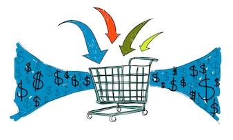 Illustration of online shopping concept