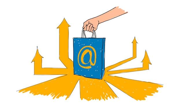 Иллюстрация концепции онлайн-покупок