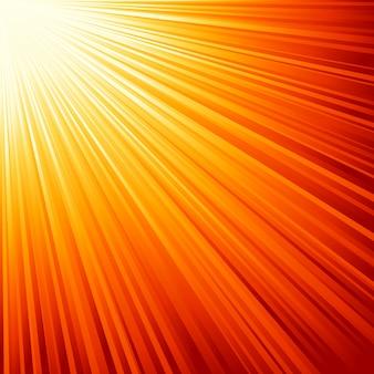 オレンジ色の太陽光線のイラスト。