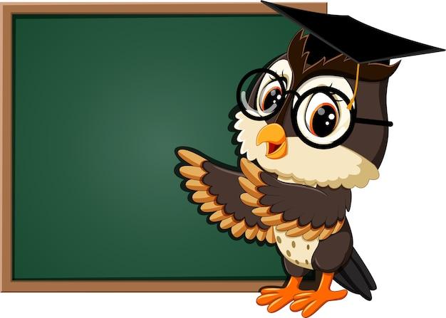 オールド教師の黒板でのイラスト