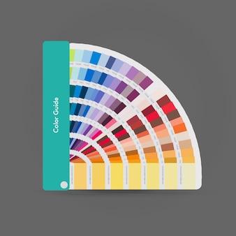 Illustration of pantone colors for print, guide book for designer