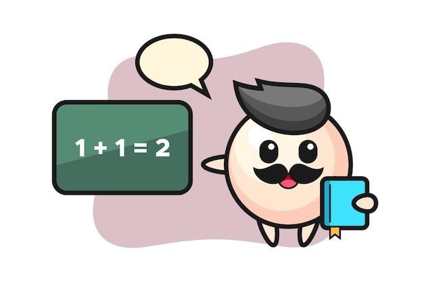 先生としての真珠のキャラクターのイラスト