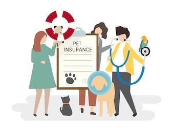 Illustration of pet insurance