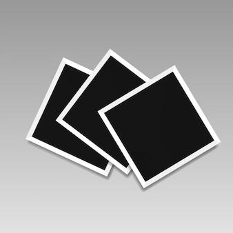 Иллюстрация шаблонов рамок на прозрачном фоне для фотографий